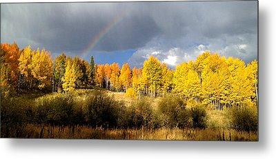 Autumn Rainbow Metal Print by Bob Berwyn