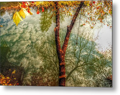 Autumn Reflection  Metal Print by Peggy Franz