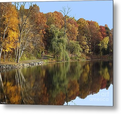 Autumn Reflections Metal Print by Bill Woodstock