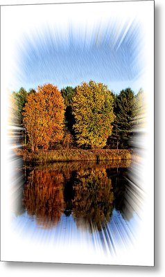 Autumn Reflections Metal Print by Constantine Gregory