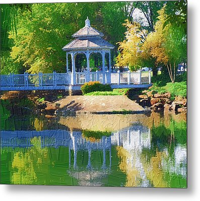 Metal Print featuring the photograph Autumn Reflections by Diane Miller