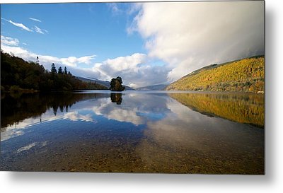 Metal Print featuring the photograph Autumn Reflections On Loch Tay by Stephen Taylor