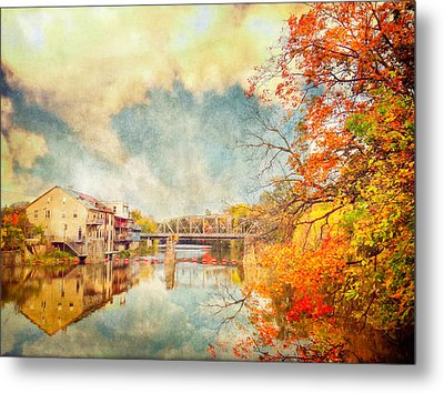 Autumn Reflections Metal Print by Tracy Munson