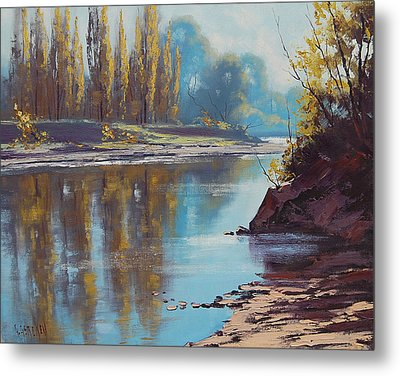 Autumn Reflections Tumut River Metal Print by Graham Gercken