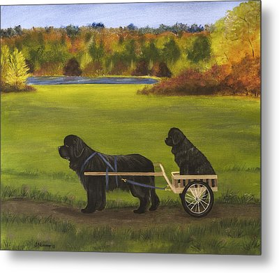 Metal Print featuring the painting Autumn Ride by Sharon Nummer
