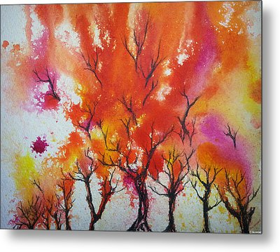 Autumn Riot Metal Print