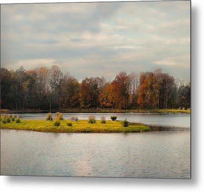 Autumn Rising At The Duck Pond - Autumn Scene Metal Print by Jai Johnson