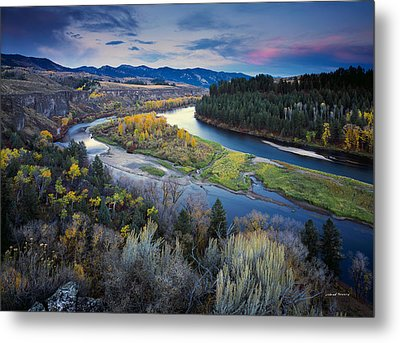 Autumn River Metal Print by Leland D Howard