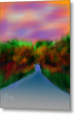 Autumn Road Metal Print by Frank Bright