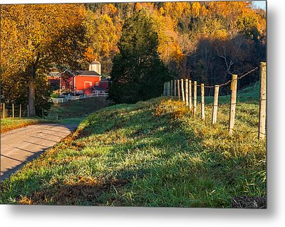 Autumn Road Morning Metal Print by Bill Wakeley