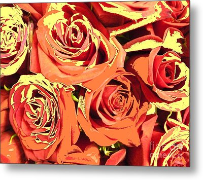 Metal Print featuring the photograph Autumn Roses On Your Wall by Joseph Baril