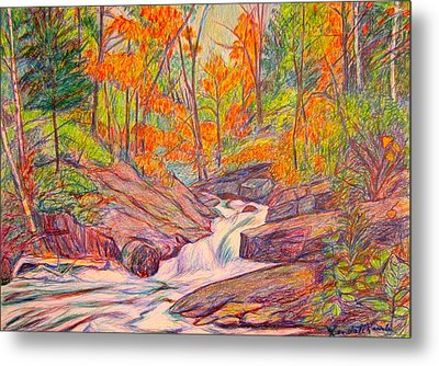 Autumn Rush Metal Print by Kendall Kessler