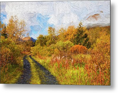 Autumn Scenic Oil Painting Metal Print by Marion Owen