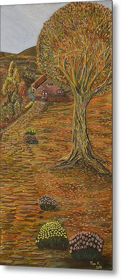 Autumn Sequence Metal Print