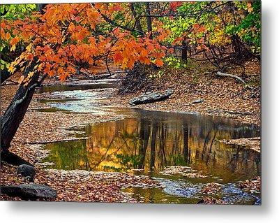 Autumn Serenity Metal Print by Frozen in Time Fine Art Photography