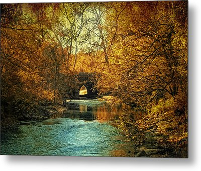 Autumn Shimmer Metal Print by Jessica Jenney