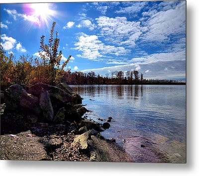 Autumn Shores Metal Print