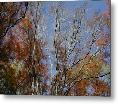 Metal Print featuring the digital art Autumn Sky by Kelvin Booker