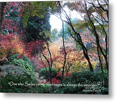 Autumn Smile Metal Print by Marlene Rose Besso
