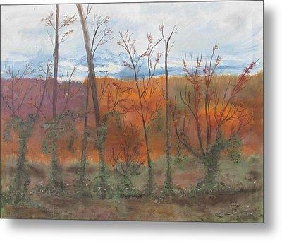 Metal Print featuring the painting Autumn Splendor by Diane Pape