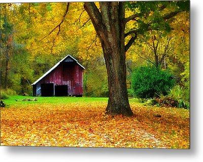 Autumn Splendor In West Virginia Metal Print by Chastity Hoff