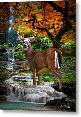 Autumn Stag Metal Print