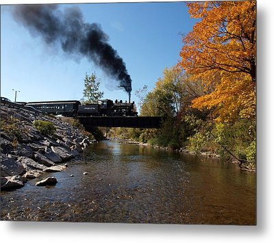 Autumn Steam Metal Print by Joshua House