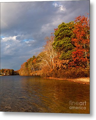 Autumn Storm Approaching Metal Print by Michelle Wiarda