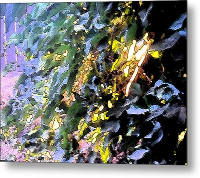 Autumn Sun On Leaves Metal Print