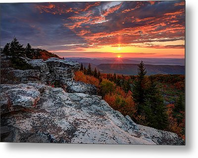 Metal Print featuring the photograph Autumn Sunrise At Dolly Sods by Jaki Miller