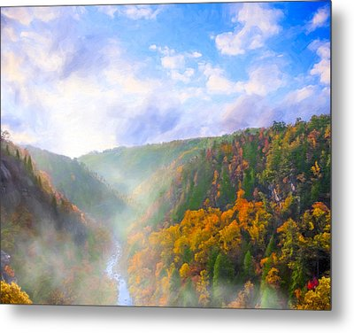 Autumn Sunrise In Tallulah Gorge Metal Print by Mark E Tisdale