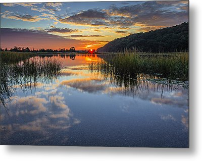 Autumn Sunrise Metal Print by Mike Lang