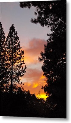Autumn Sunset Metal Print by Michele Myers
