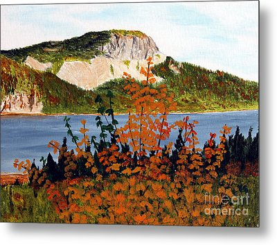 Metal Print featuring the painting Autumn Sunset On The Hills by Barbara Griffin