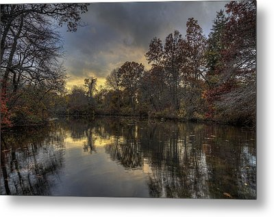 Autumn Sunset On West Brook Pond Metal Print