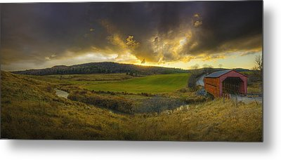 Autumn Sunset Over Meech Creek Metal Print
