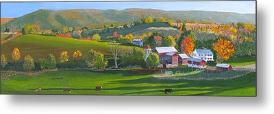 Autumn The Year's Last Loveliest Smile Metal Print by Barb Pennypacker