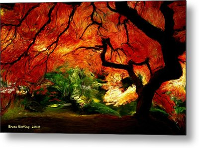 Metal Print featuring the painting Autumn Tree by Bruce Nutting