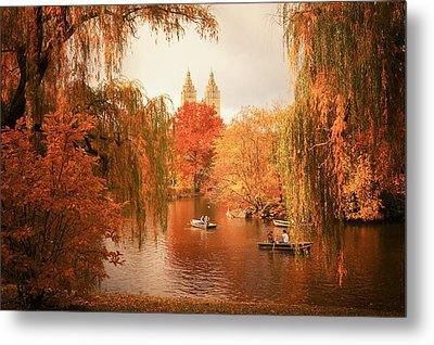 Autumn Trees - Central Park - New York City Metal Print by Vivienne Gucwa