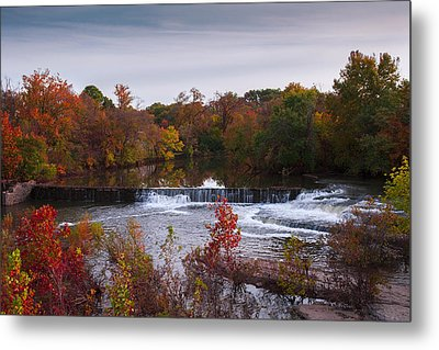 Metal Print featuring the photograph Refreshing Waterfalls Autumn Trees On The Stones River Tennessee by Jerry Cowart