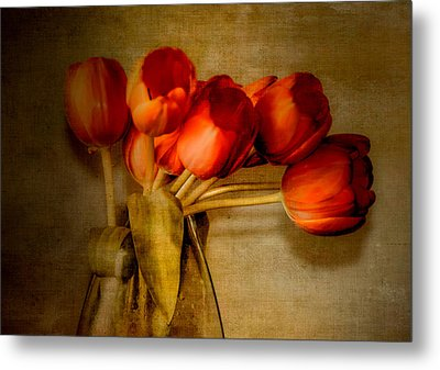 Autumn Tulips Metal Print by Julie Palencia