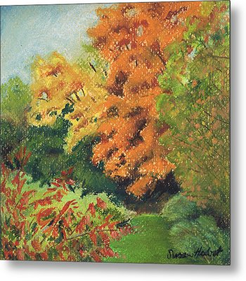 Autumn Uplands Farm Metal Print
