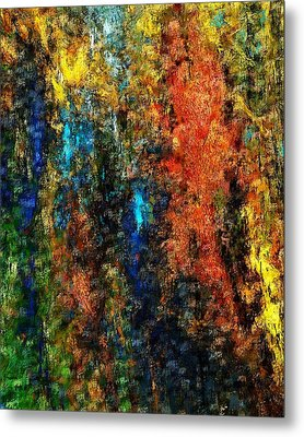 Metal Print featuring the digital art Autumn Visions Remembered by David Lane