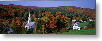 Autumn, Waits River, Vermont, Usa Metal Print by Panoramic Images