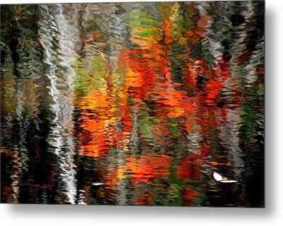 Autumn Water Colors Metal Print by Frozen in Time Fine Art Photography