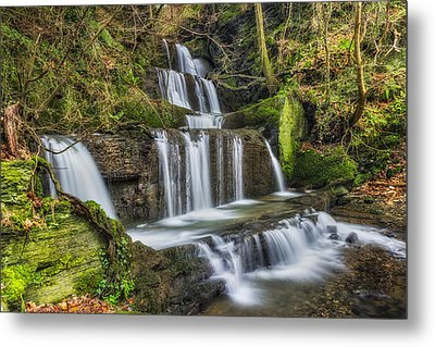Autumn Waterfall Metal Print by Ian Mitchell