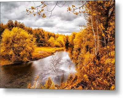 Autumn White Mountains Maine Metal Print by Bob Orsillo