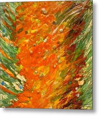 Metal Print featuring the painting Autumn Wind by Joan Reese
