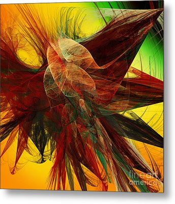Autumn Wings Metal Print by Andee Design