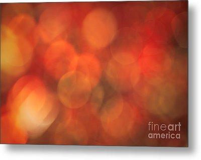 Autumnal Amber Metal Print by Jan Bickerton